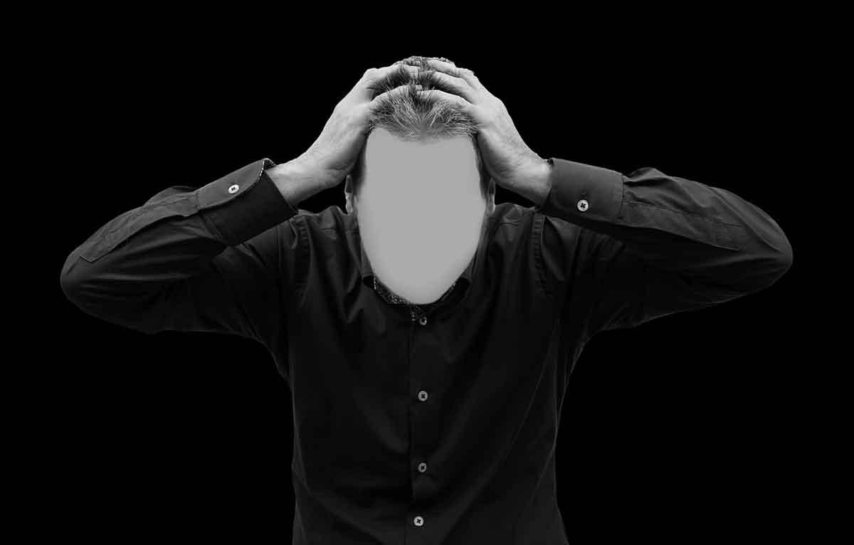 Blank face photo