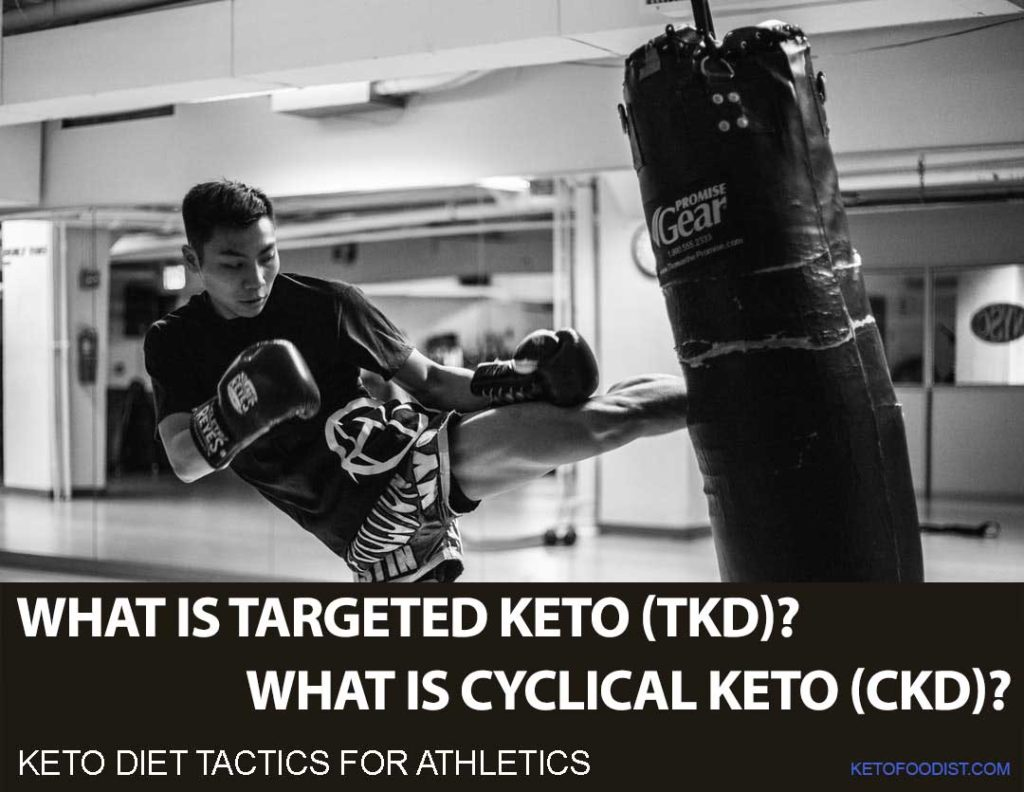 Using targeted keto (TKD) and cyclical keto (CKD) ketogenic diet; useful for athletes and bodybuilders